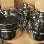 Набор посуды из нержавеющей стали  +подарок фен