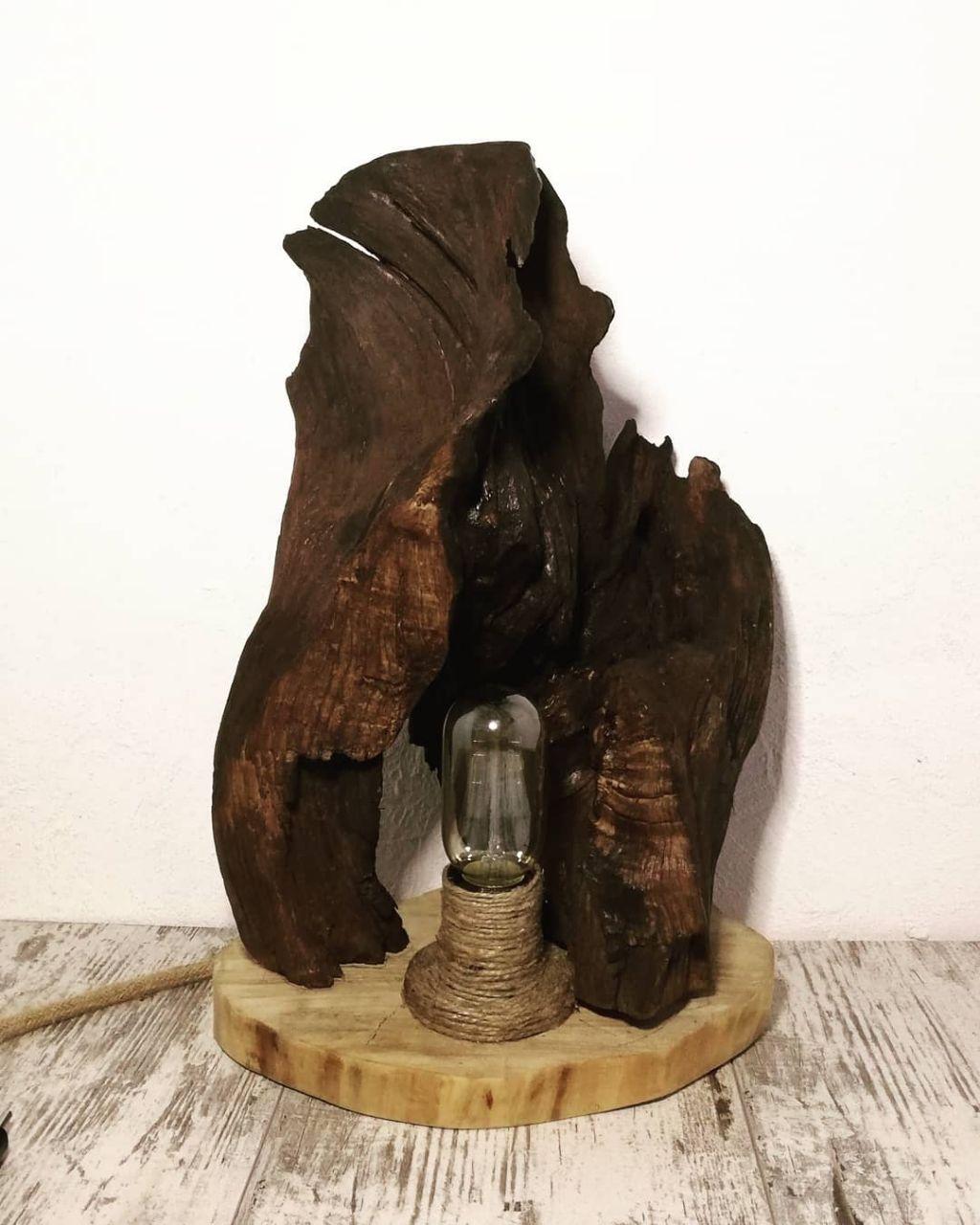 Світильники ручної роботи з дерева ( Loft)